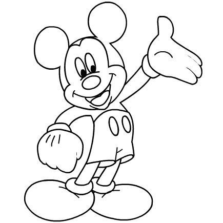 mickey mouse black and white coloring pages kaigobank