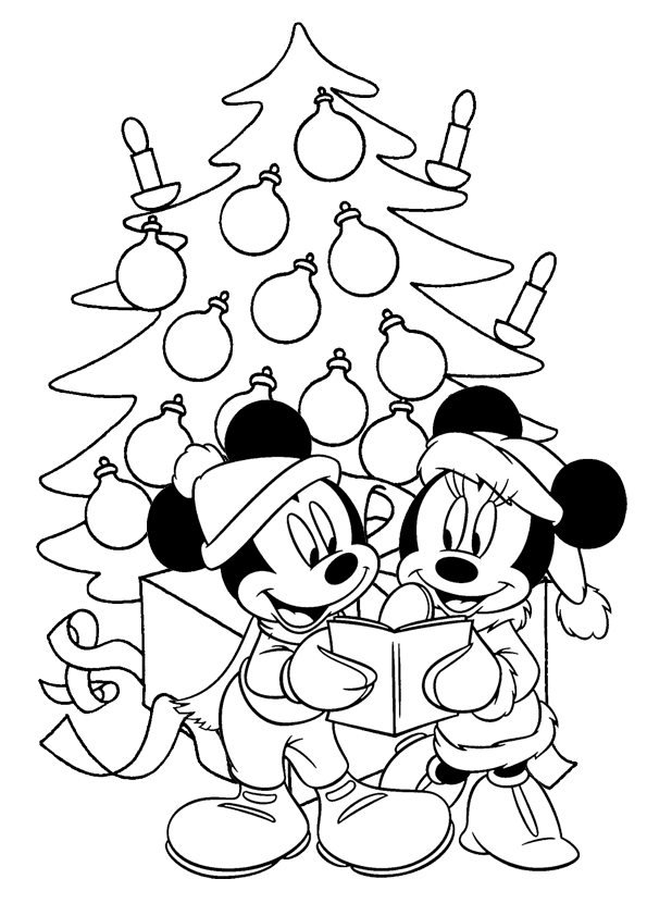 mickey mouse christmas coloring pages best coloring pages