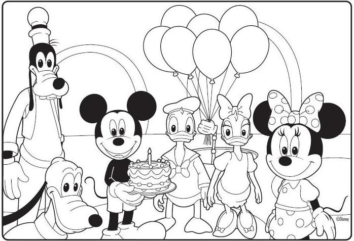 mickey mouse clubhouse birthday coloring page mickey mouse