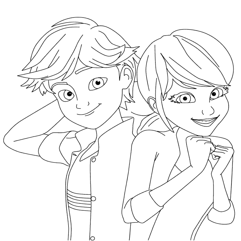 miraculous tales of ladybug cat noir coloring pages