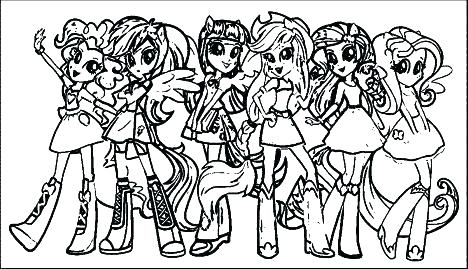 mlp equestria girls coloring pages at getdrawings free