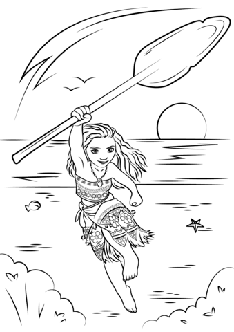 moana coloring page free printable coloring pages