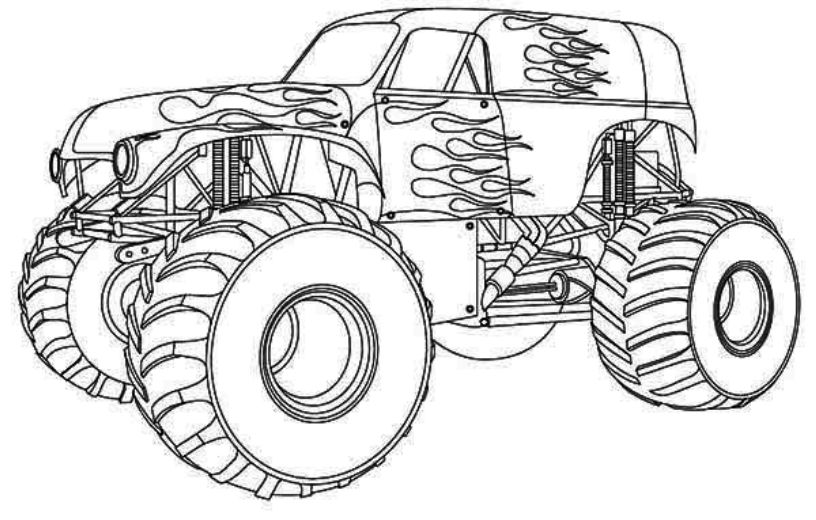 monster truck coloring pages maximum destruction