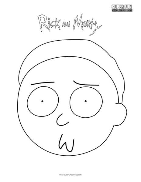 morty rick and morty coloring page super fun coloring