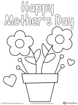 mothers day homemade card mothers day coloring pages