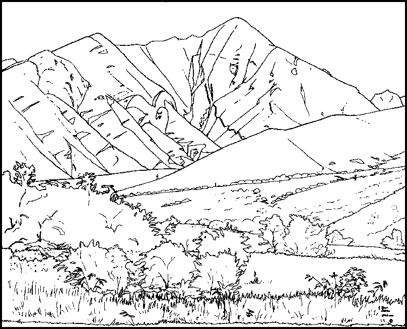 mountain 7 nature printable coloring pages