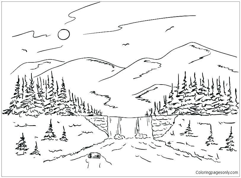 mountain coloring pictures soidesign