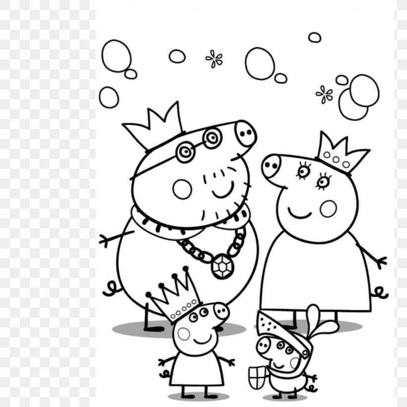 mummy pig daddy pig grandpa pig peppa pig coloring pages