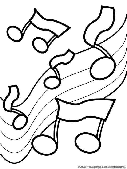 music coloring pages music notes 2 free printable