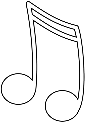 music note coloring page free printable coloring pages