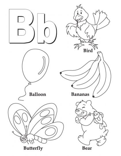 my a to z coloring book letter b coloring page letter b