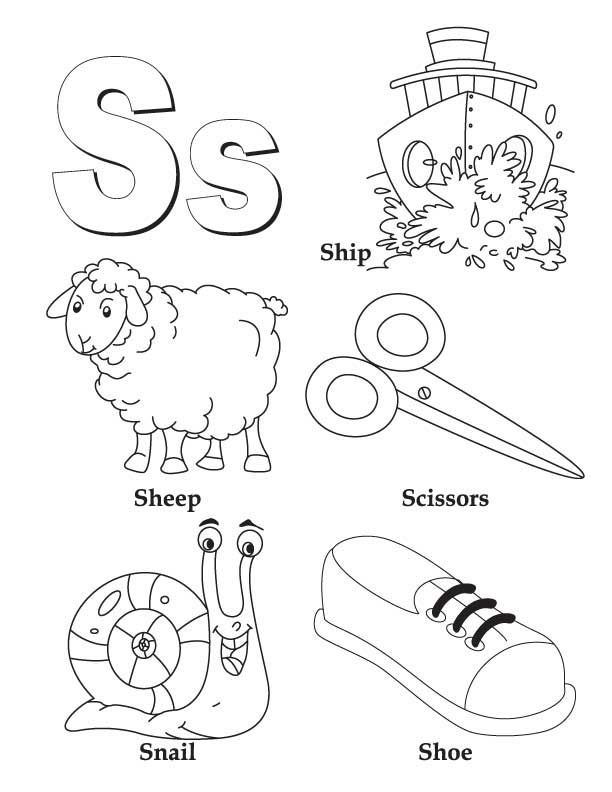 my a to z coloring book letter s coloring page czytanie