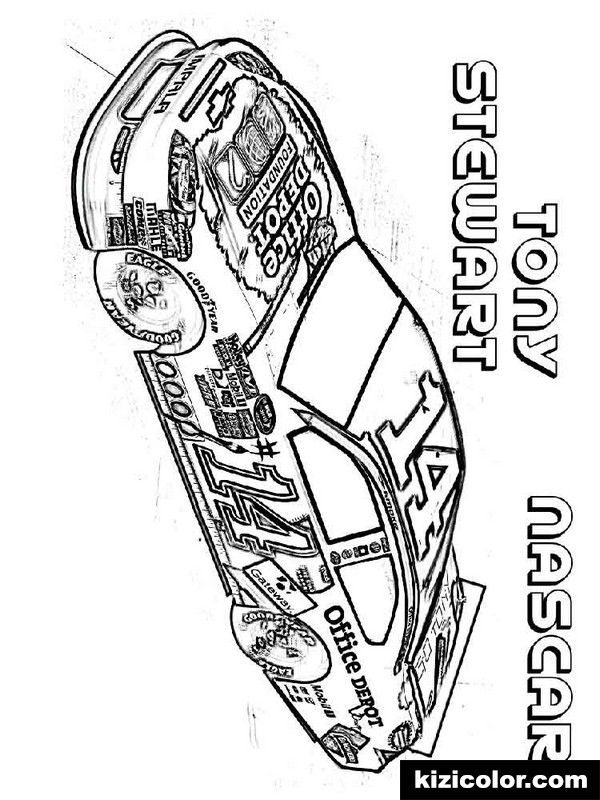 nascar 7 kizi free coloring pages for children