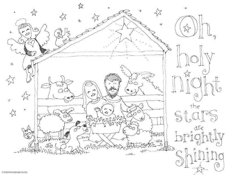 nativity coloring pages skip to my lou