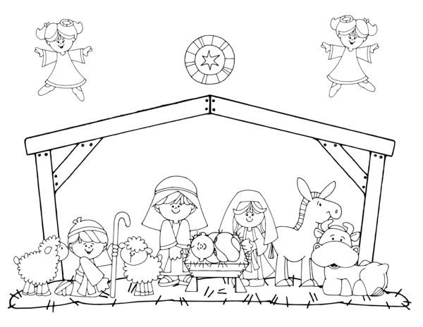 nativity colouring pages printable google search