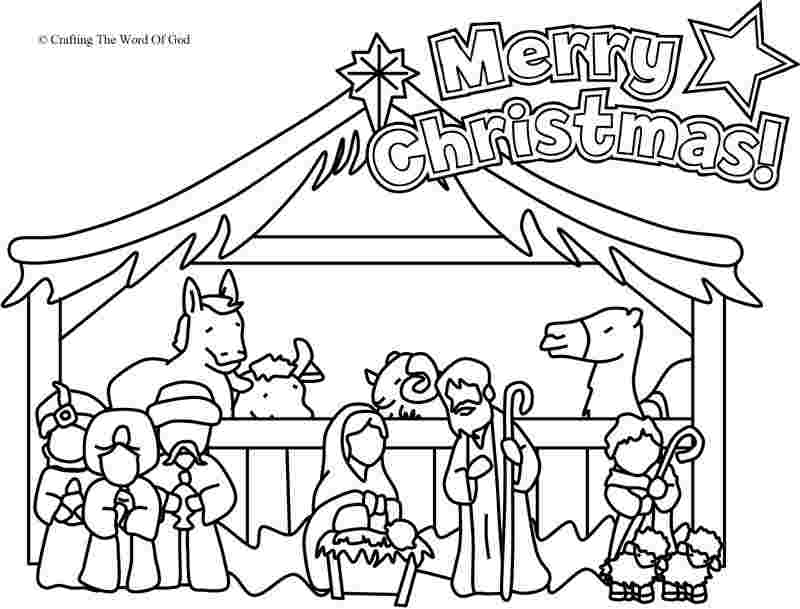 nativity scene coloring pages for preschoolers printable