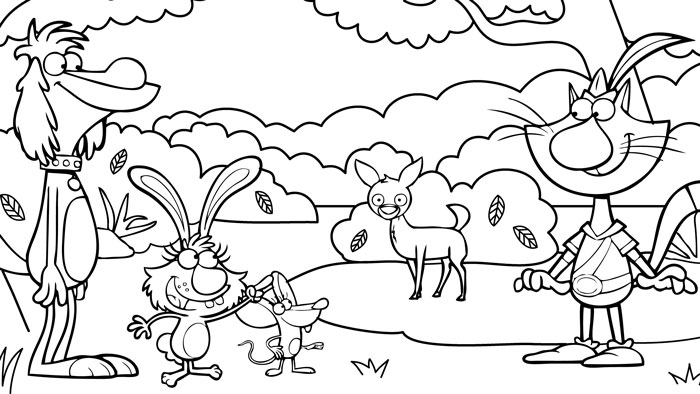 nature cat coloring pages wttw chicago