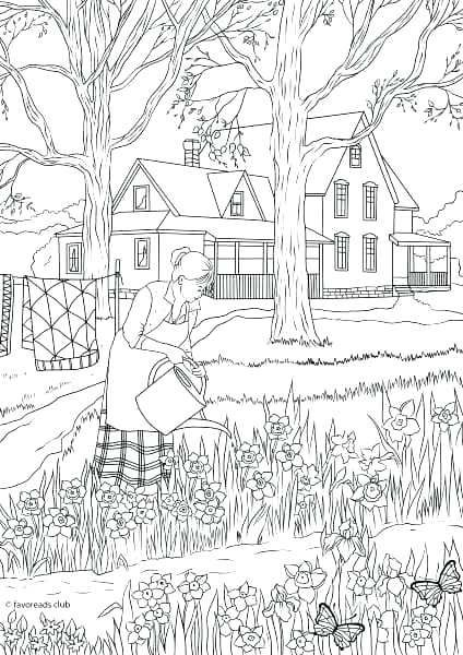 nature coloring pages for adults free printable adult
