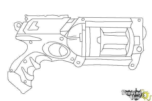 nerf guns coloring pages gallery fun for kids