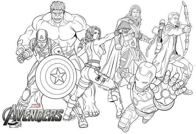new avengers endgame coloring page for marvel fans gambar