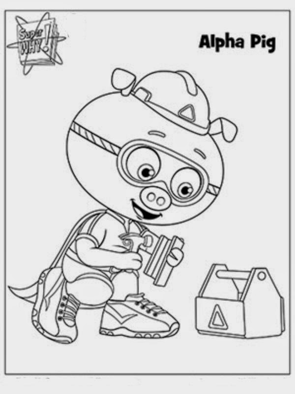 new coloring pages interesting collection of super why