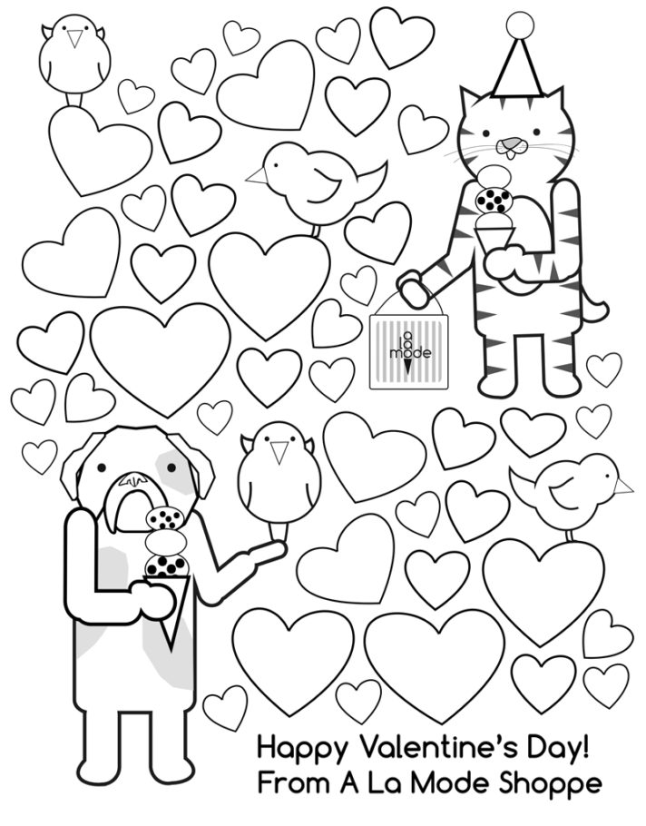 new coloring pages of happy valentines day 1st valentines