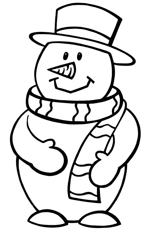new design ideas coloring pages snowman