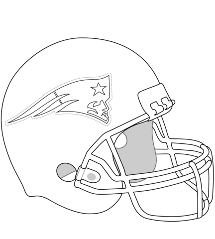 new england patriots helmet omalovnka free printable