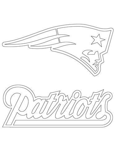 new england patriots logo coloring page free printable