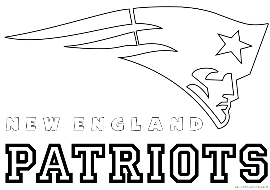 nfl coloring pages new england patriots logo coloring4free