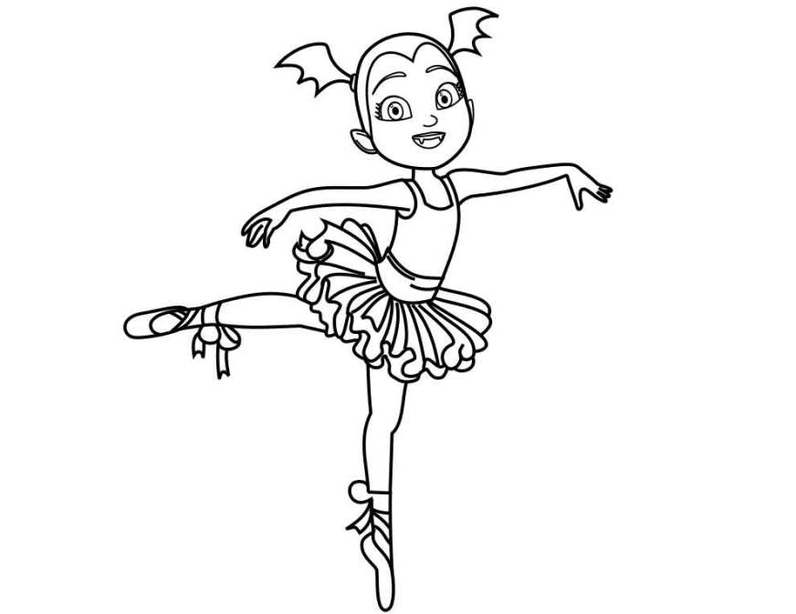 nice vampirina ballerina coloring pages to print for kids