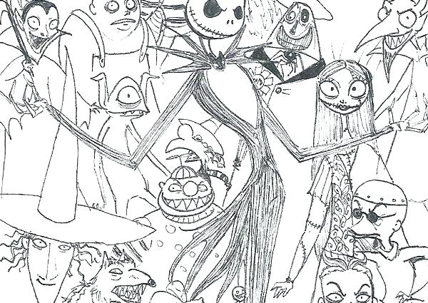 nightmare before christmas coloring page pages oogie boogie