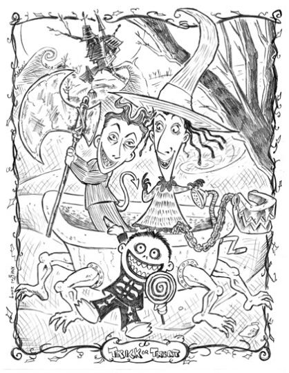 nightmare before christmas coloring pages part 3