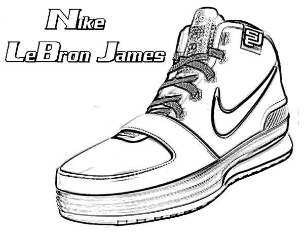 nike lebron james shoes coloring page coloring sky