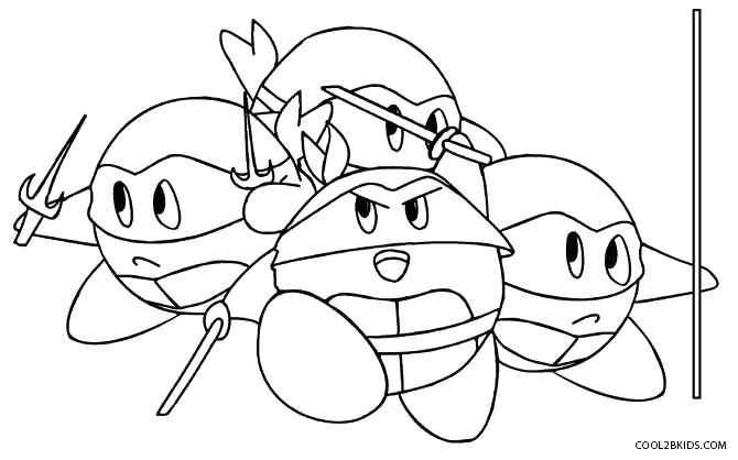 ninja coloring pages kir meta knight warentests
