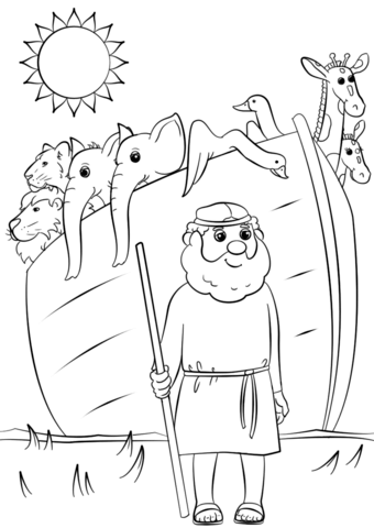 noahs ark animals two two coloring page free printable