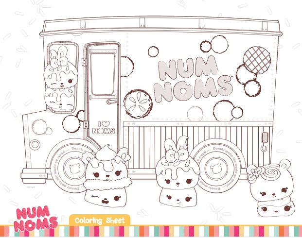 nom noms coloring pages collection fun for kids