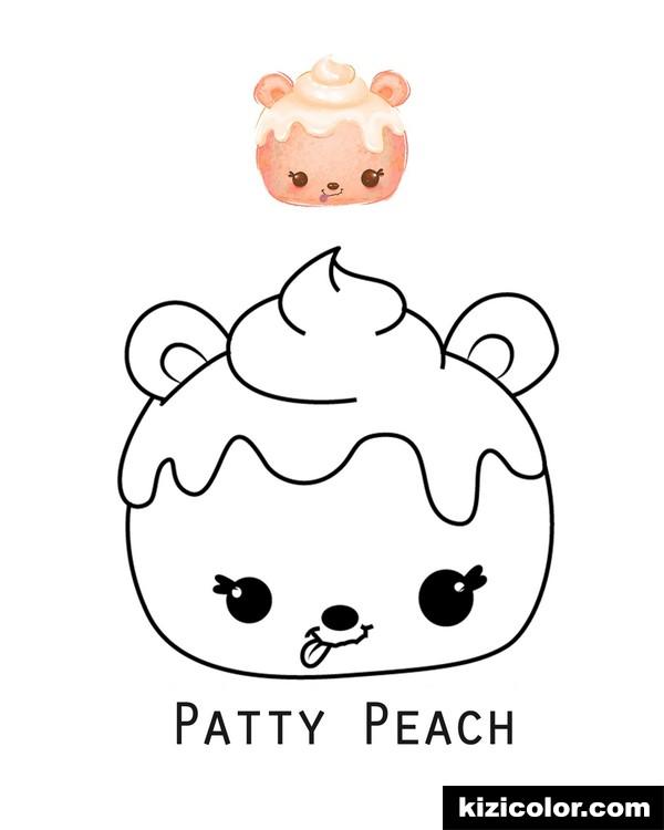 num noms patty pfirsich ausmalbilder kostenlos zum
