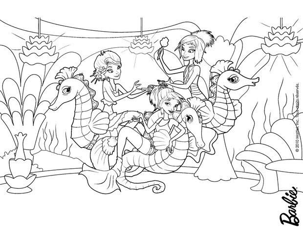 oceanas mermaids and seahorses coloring pages hellokids