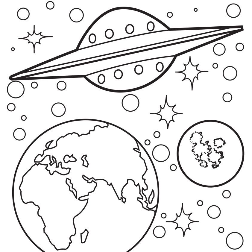 outer space coloring pages free google search space