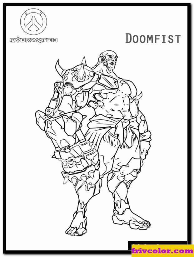 overwatch doomfist friv free coloring pages for children