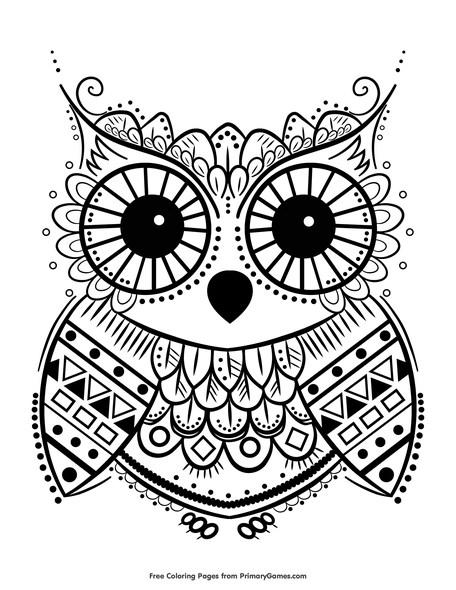 owl coloring sheets to print pusat hobi