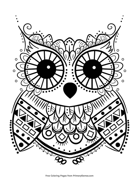 owl coloring sheets to print pusat hobi