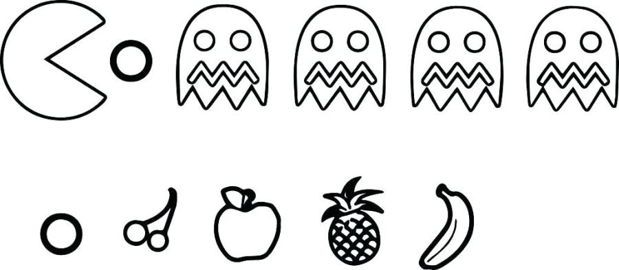 pacman coloring pages free wozdengiclub