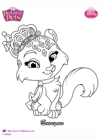 palace pets snowpaws coloring page free printable coloring