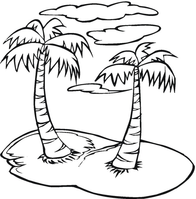 palmtree coloring page