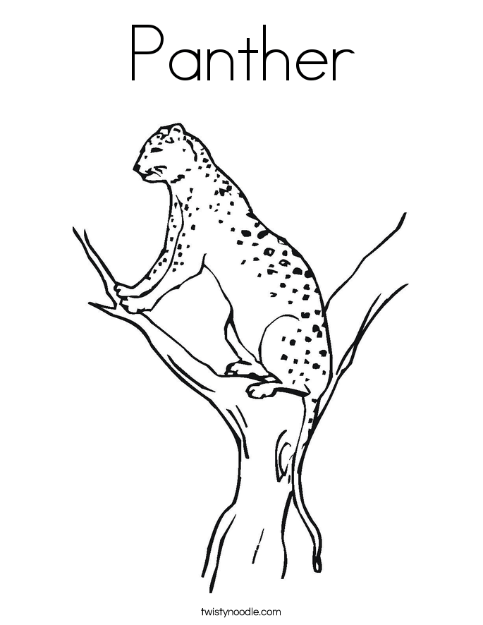 panther coloring pages for kids and for adults clip art