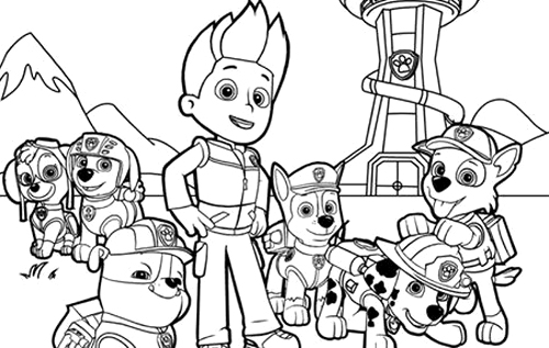 paw patrol 47 cartoons printable coloring pages