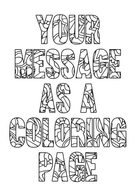 personalized coloring page printable a4 coloring page made