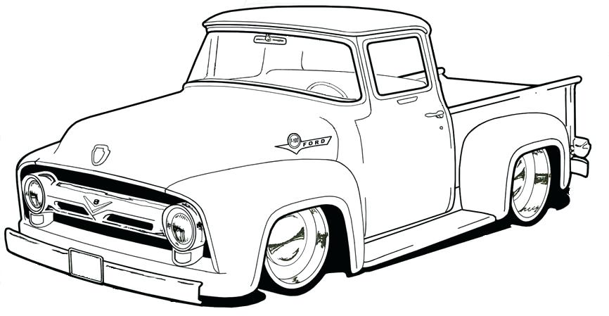 pickup truck coloring pages at getdrawings free for